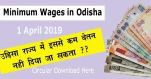 Minimum wages in Odisha 01 April 2019 कितना बढ़ा