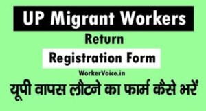 UP Migrant Workers Return Registraion