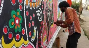 patna decorating madhubani painting
