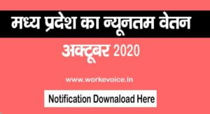 Minimum Wages in Madhya Pradesh Oct 2020