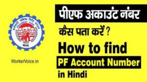 pf account number kaise pata kare