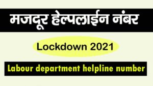 Labour department helpline number