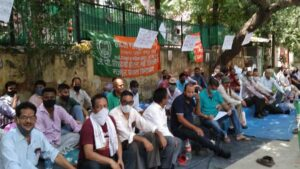 one day protest by jp siddhartha and jp vasant continental employees